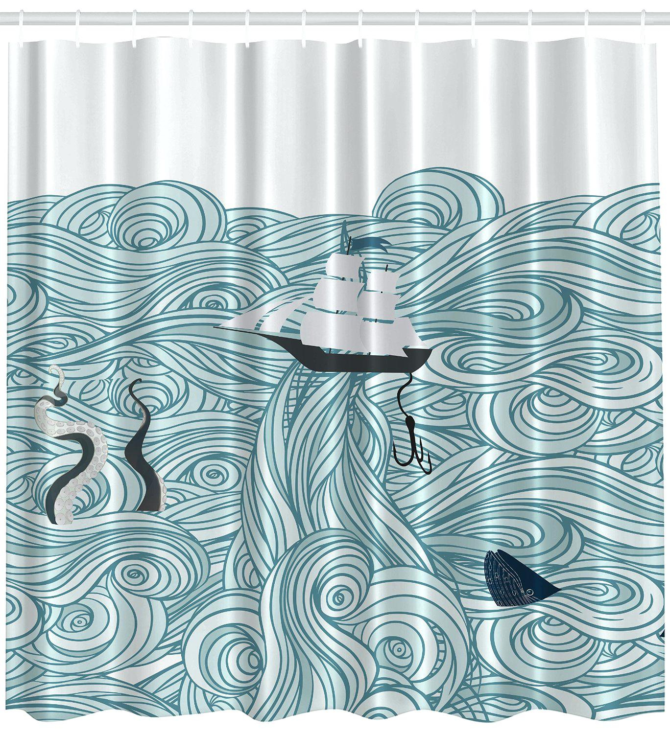 Thinkgeek Tardis Shower Curtain Shower Curtains Design with regard to measurements 1368 X 1500