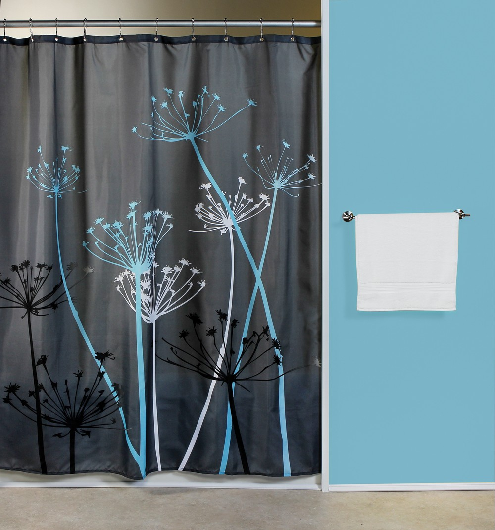 Thistle Grayblue Fabric Shower Curtain Bath Outlet In Measurements 1000 X 1071