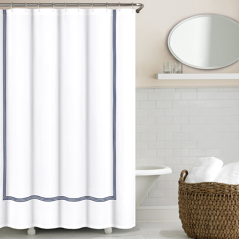 Three Line Hotel Shower Curtains Echelon Linenplace with dimensions 960 X 960