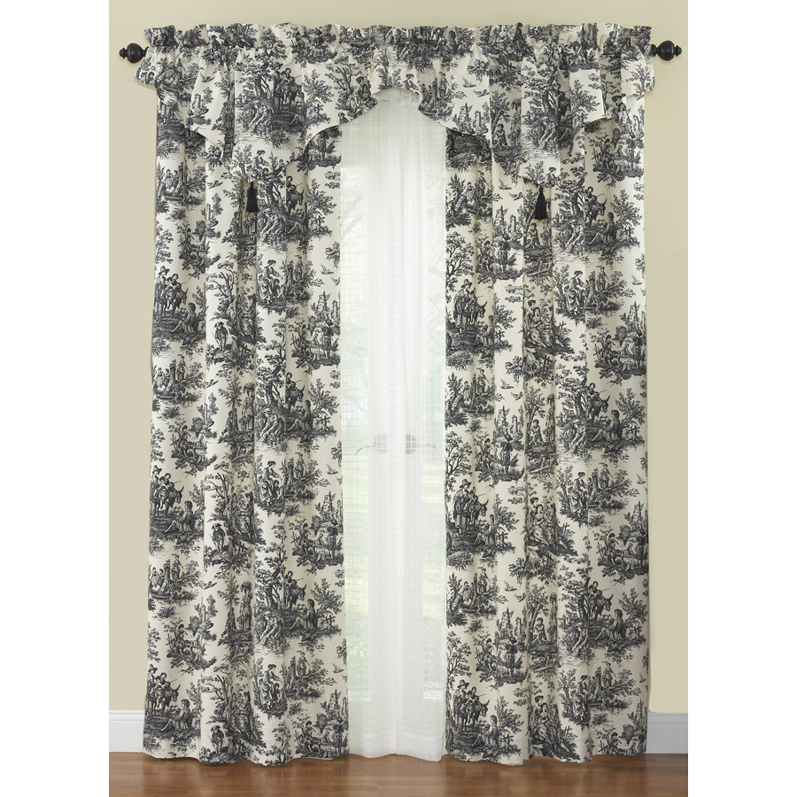 Waverly Black Toile Shower Curtain • Shower Curtains Ideas