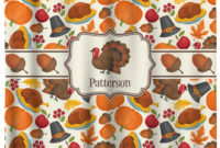 Traditional Thanksgiving Shower Curtain Personalized Potty with measurements 1500 X 1635