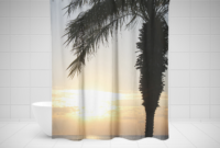 Tree Shower Curtain Birch Shower Curtain Palm Shower Curtain with measurements 2500 X 2200