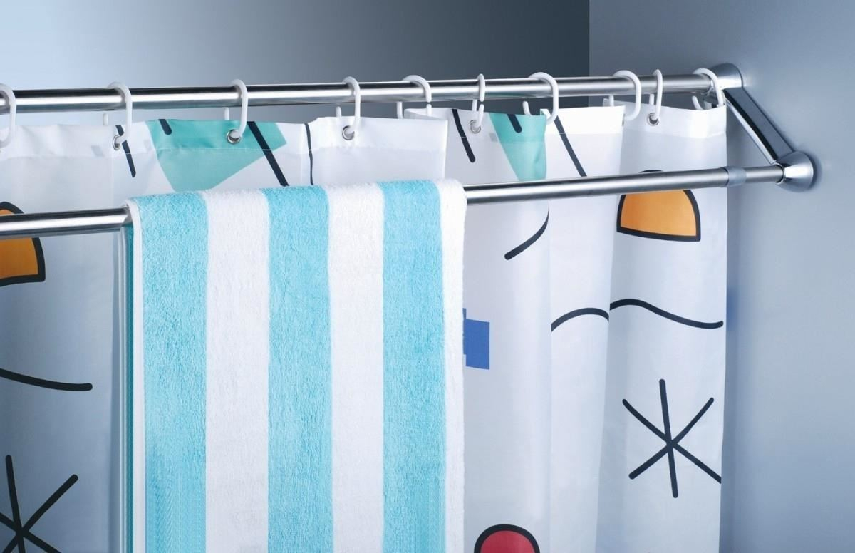 Use Extra Shower Curtain Rods To Increase Bathroom Storage More inside measurements 1200 X 776