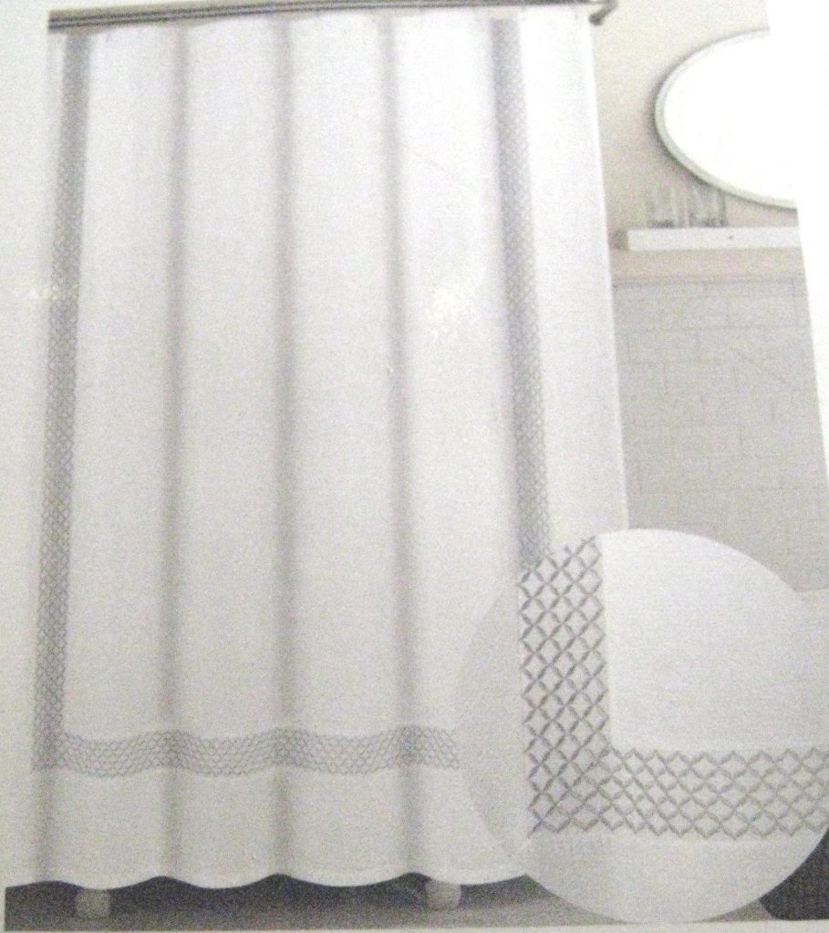 Waffle Weave Shower Curtain White Curtains Design Within Sizing 909 X 1024