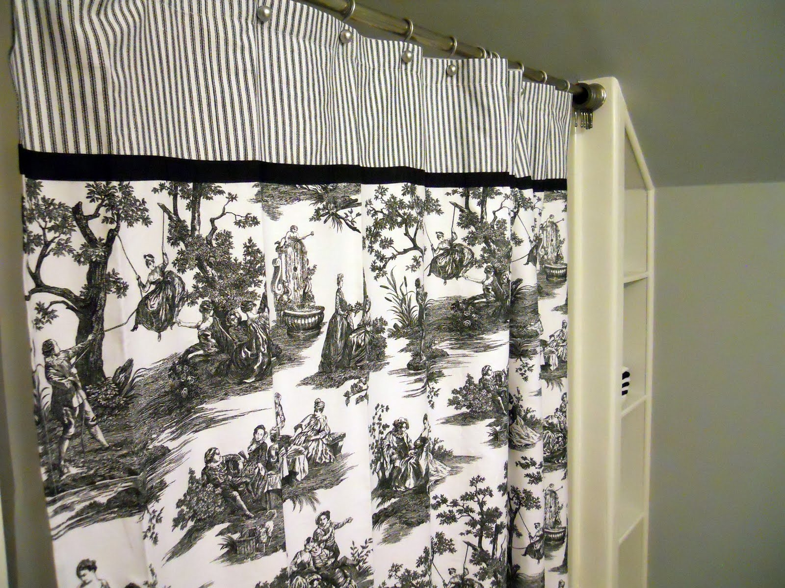 Waverly Black Toile Shower Curtain Shower Curtain Ideas Pertaining To  Measurements 1600 X 1200