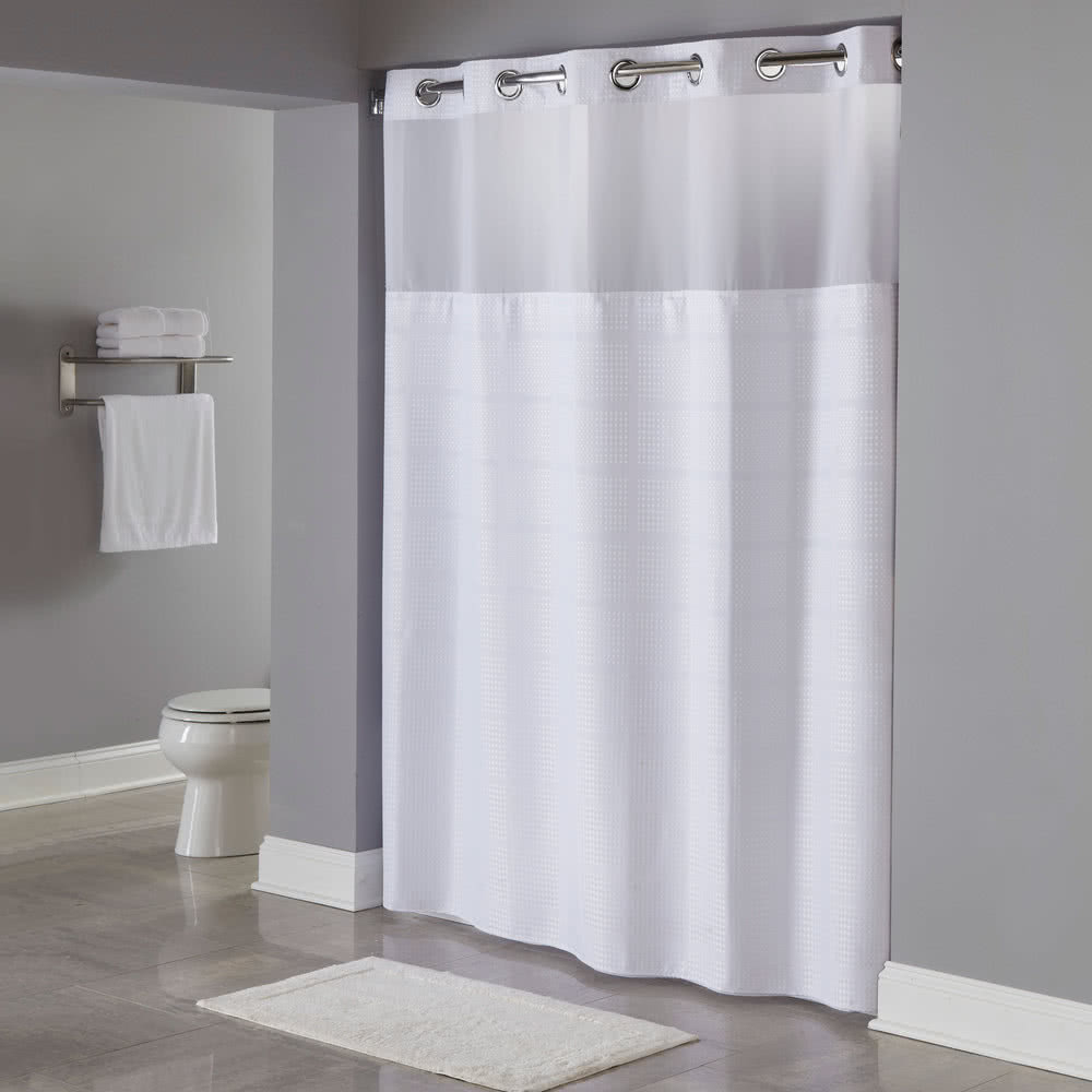 White Commercial Shower Curtains Hotel In Size 1000 X