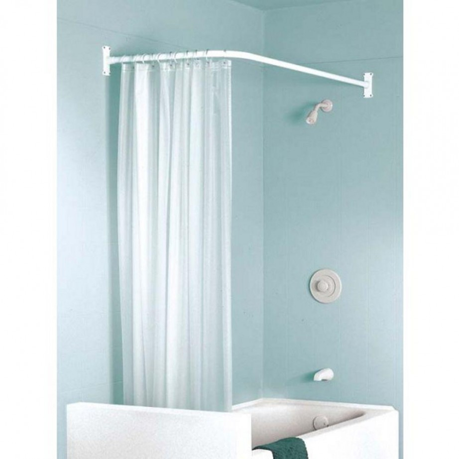 Corner Shower Stall With Curtain