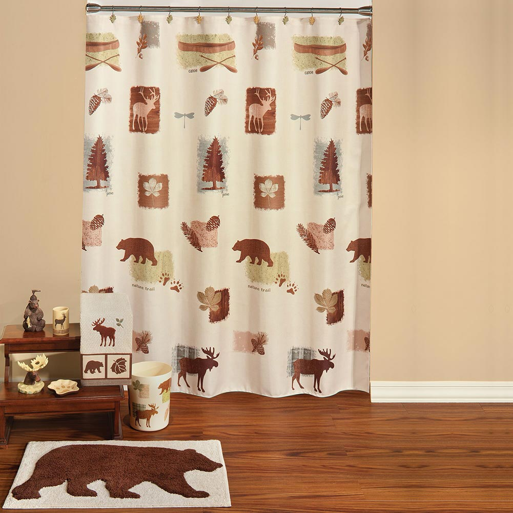 Woolrich Woodlands Shower Curtain Accessories Cabin Place for measurements 1001 X 1001
