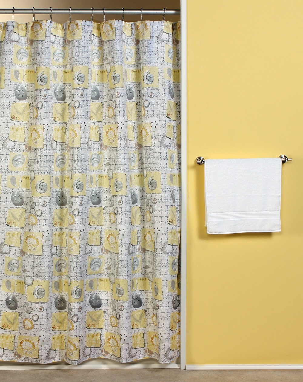 Yellow Fabric Shower Curtain Shower Ideas with regard to measurements 1000 X 1259