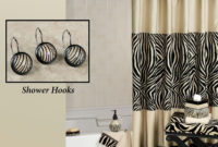 Zuma Zebra Shower Curtain And Hooks for sizing 2000 X 2000
