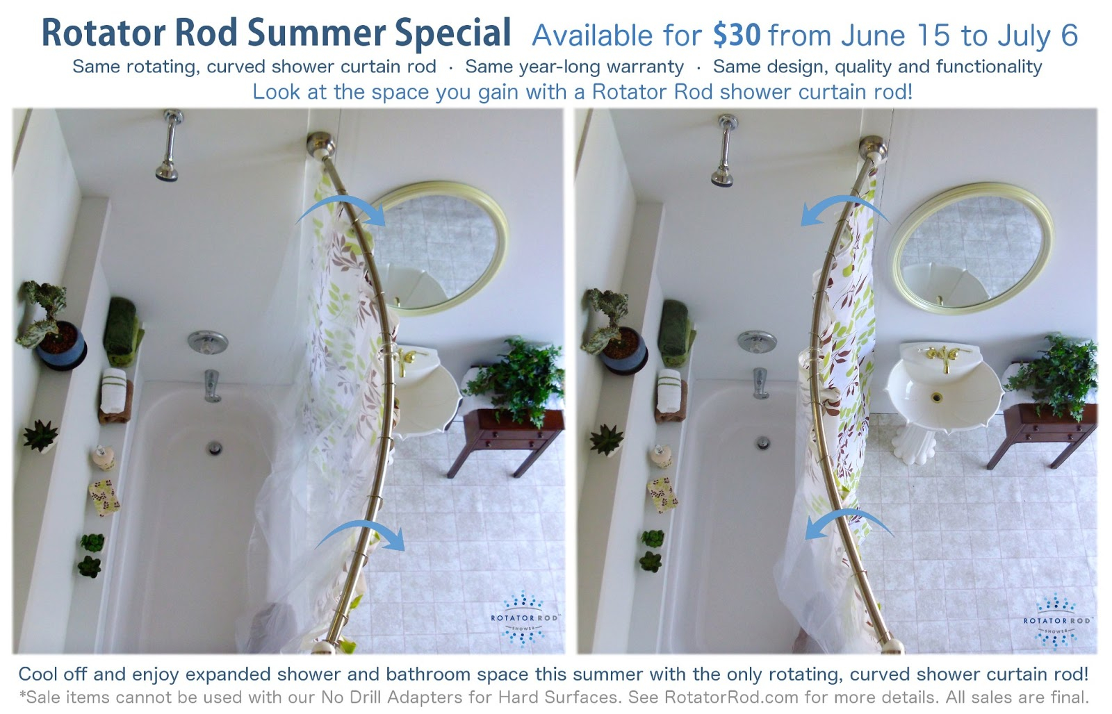 Bathroom Bliss Rotator Rod Inspiration In Rotation Fun Summer With Regard To Size 1600 X 1028