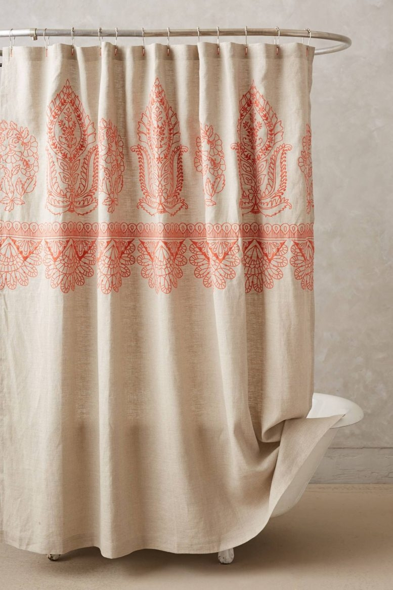 Beach Themed Shower Curtains Orange Shower Curtain Design intended for sizing 777 X 1166
