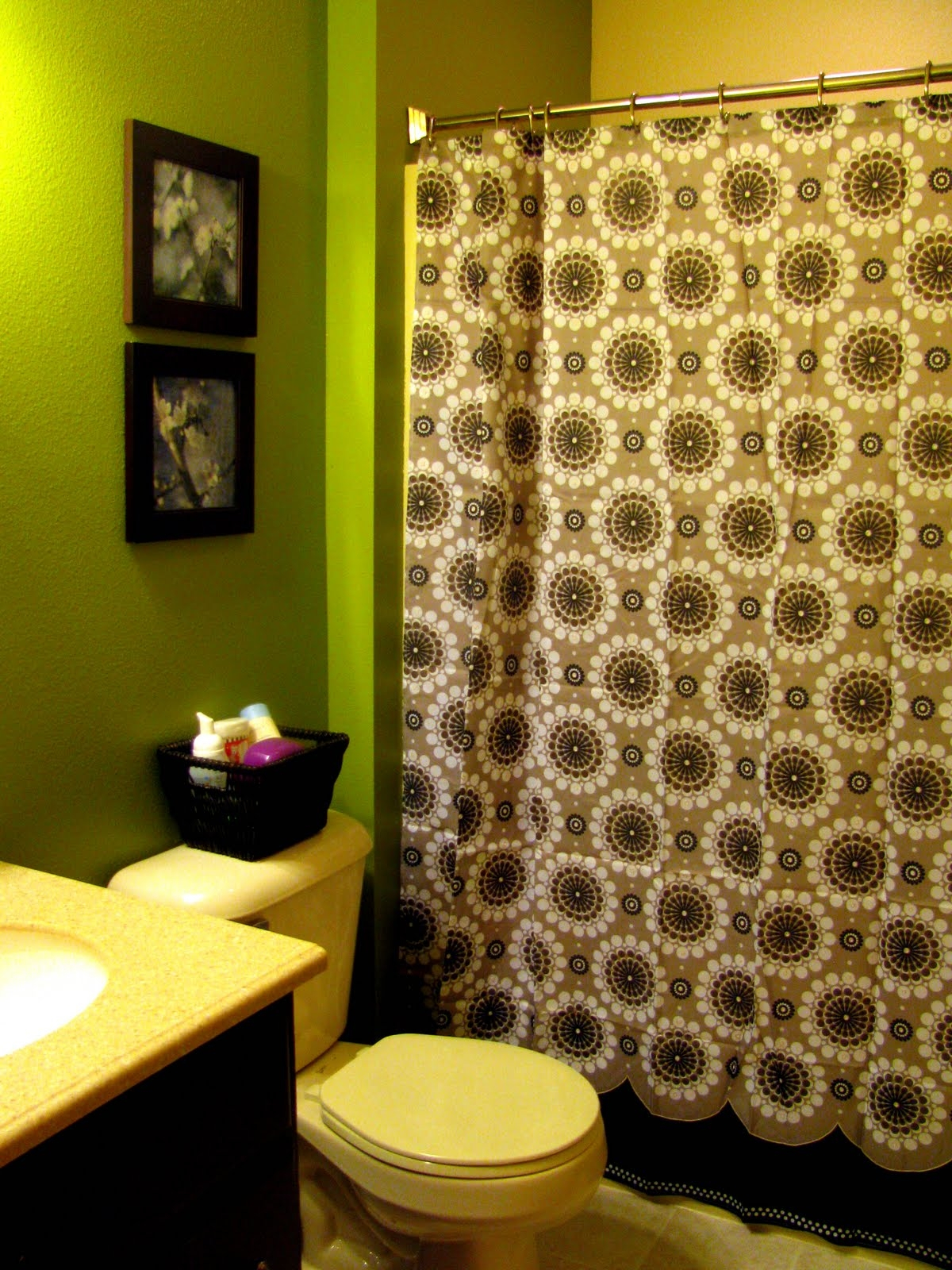 Brown And Yellow Shower Curtain Shower Curtain Ideas inside sizing 1200 X 1600