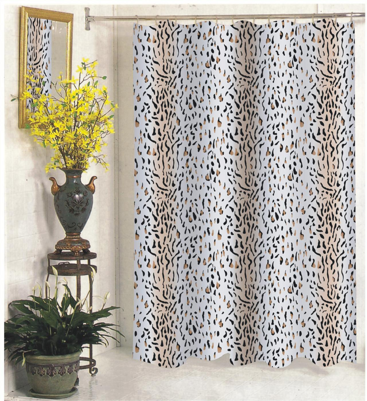 Carnation Home Fashions Inc Extra Long Fabric Shower Curtains Pertaining To Measurements 1280 X 1398