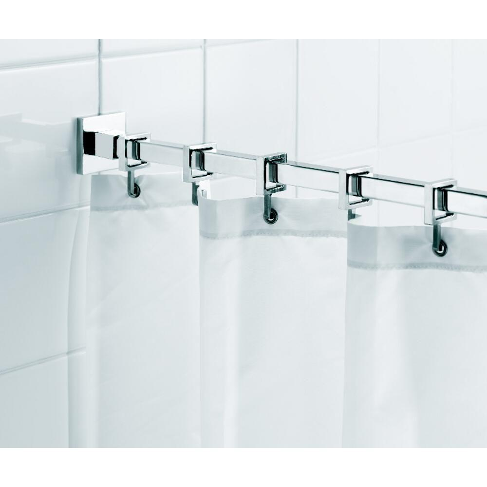 Croydex Square 984 In L Luxury Shower Curtain Rod With Curtain for proportions 1000 X 1000