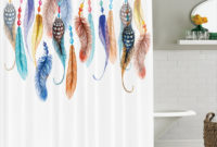 Feather House Decor Shower Curtain Primitive Hippie With South intended for size 1000 X 920