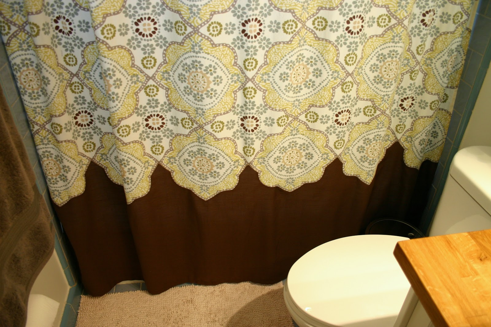 Magnificent Brown And Aqua Shower Curtain Contemporary Bathtub in proportions 1600 X 1067