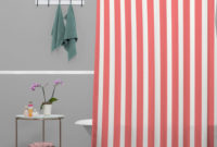 Red And White Horizontal Stripe Shower Curtain Shower Curtains inside sizing 1024 X 1024