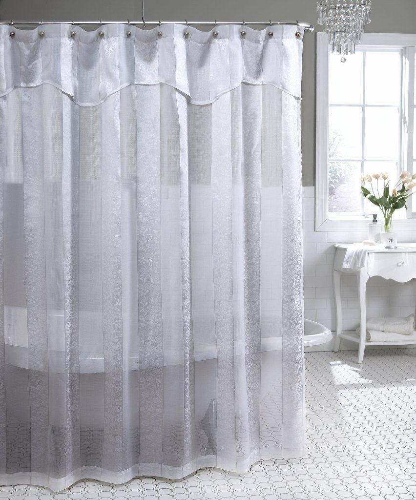 Shower Curtain With Clear Top Panel Curtains Ideas