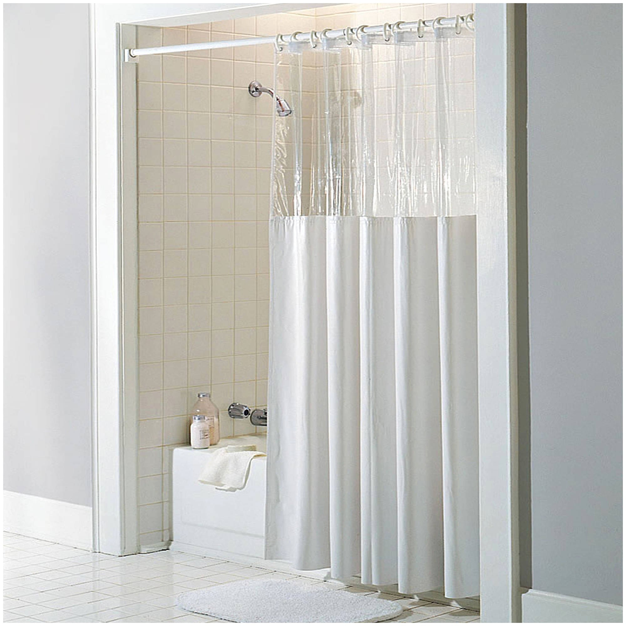 Shower Curtain With Pockets Flisol Home