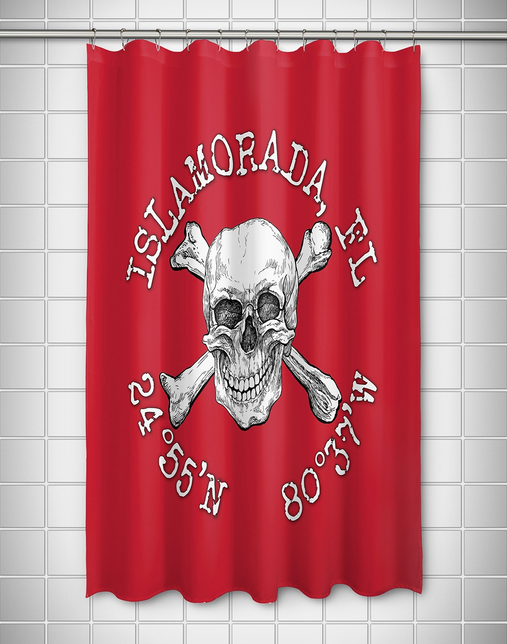 Skull And Crossbones Shower Curtain Rings Shower Curtain pertaining to sizing 1000 X 1270