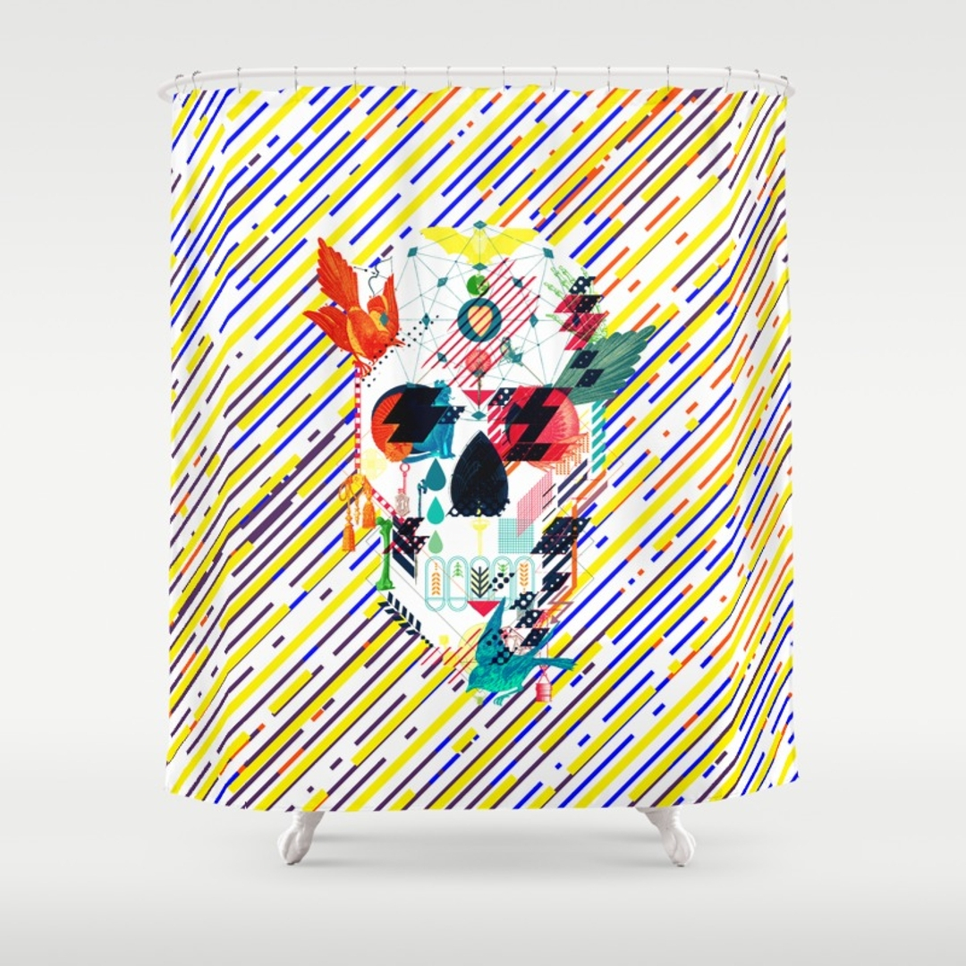 Skull And Crossbones Shower Curtain Shower Curtain pertaining to measurements 1080 X 1080