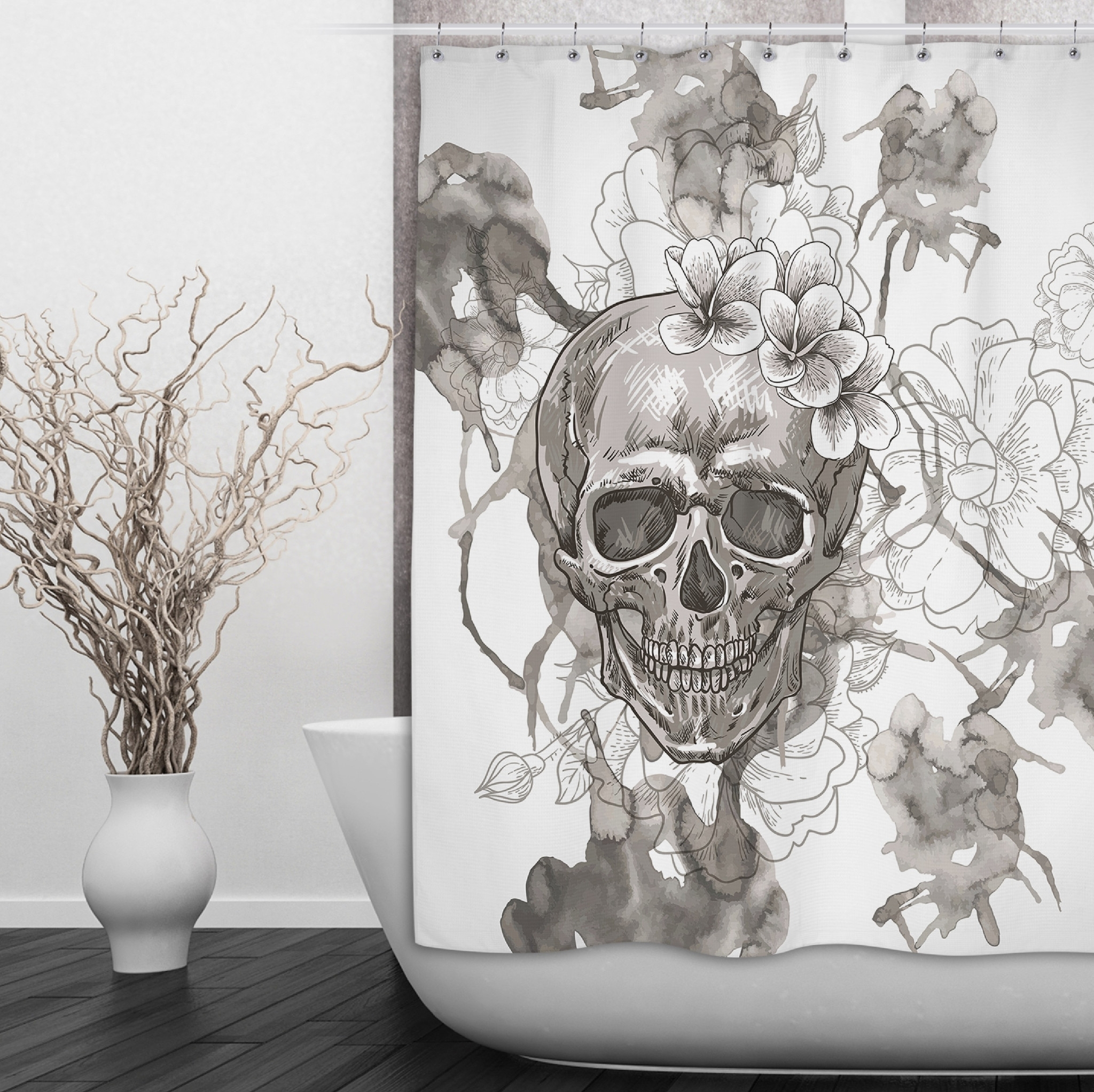 Skull And Crossbones Shower Curtain Shower Curtain within dimensions 2048 X 2044