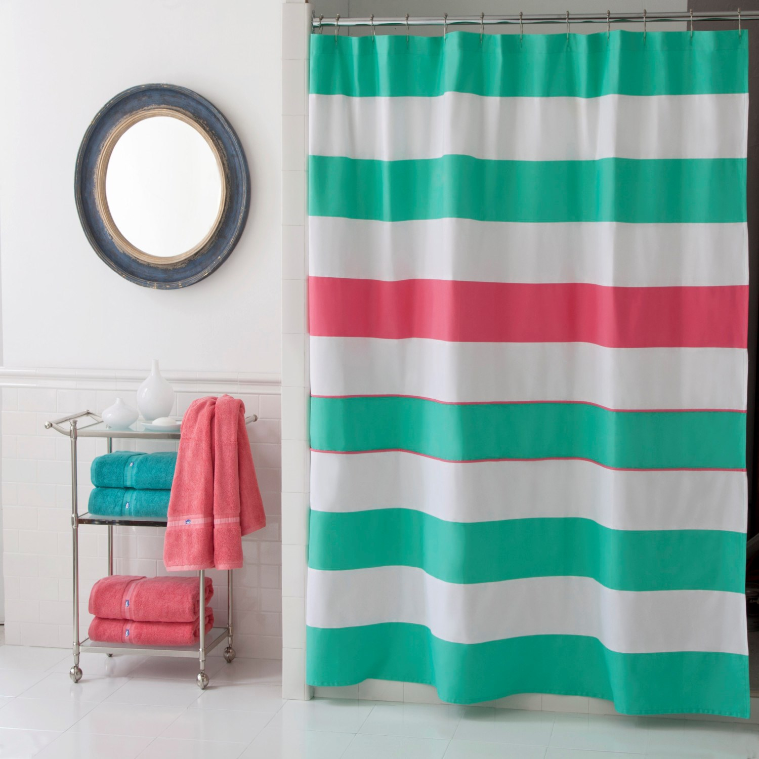 Southern Tide Cabana Stripe Shower Curtain Linens N Things intended for measurements 1500 X 1500