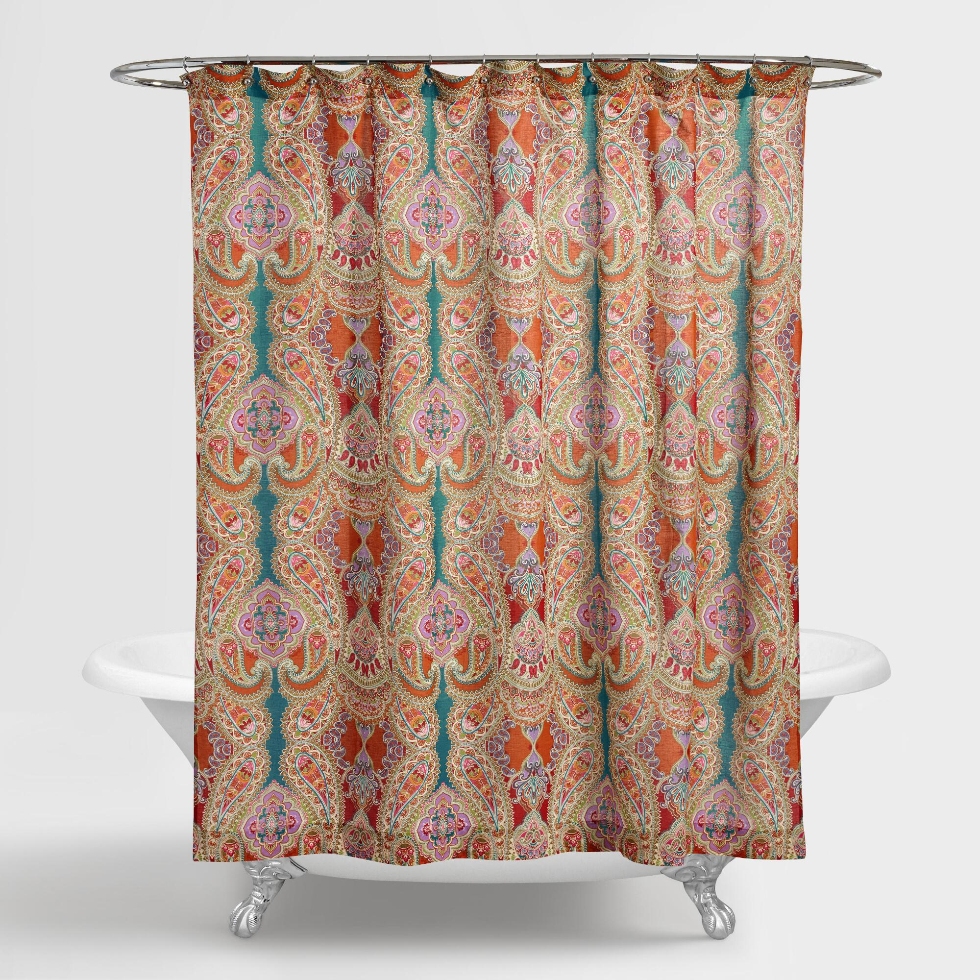 Stylish Ideas Bohemian Shower Curtains Intricate Curtain Rings within size 2000 X 2000