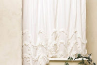 White Ruffle Shower Curtain Anthropologie Shower Curtain Ideas intended for sizing 728 X 1092